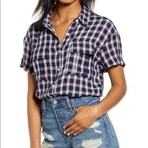 🆕BP Nordstrom plaid short sleeve shirt